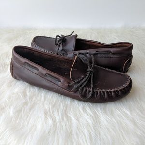 Minnetonka Leather Driving Loafer Moccasins
